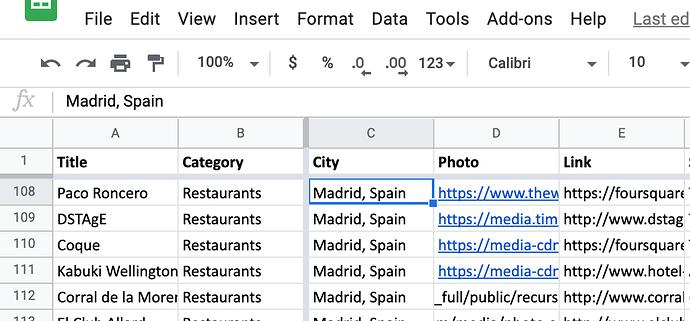 GSheet for Database