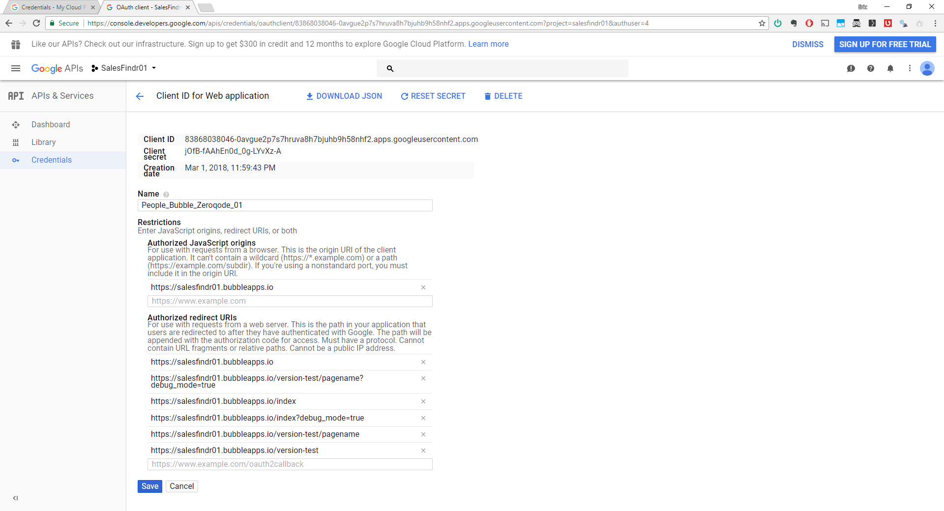 Can't authenticate with Google People API - Plugins