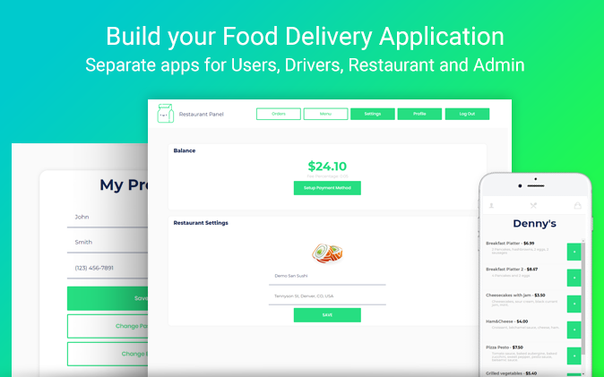 uber driver food delivery application
