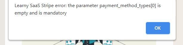 learny e-learning saas Stripe Error