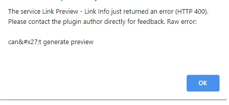 link preview error