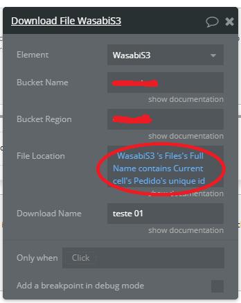 Local do arquivo contendo nome do completo do arquivo e contendo o ID único do pedido