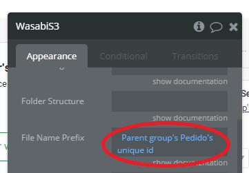 upload adicionando ao prefixo do nome do arquivo o ID único do pedido